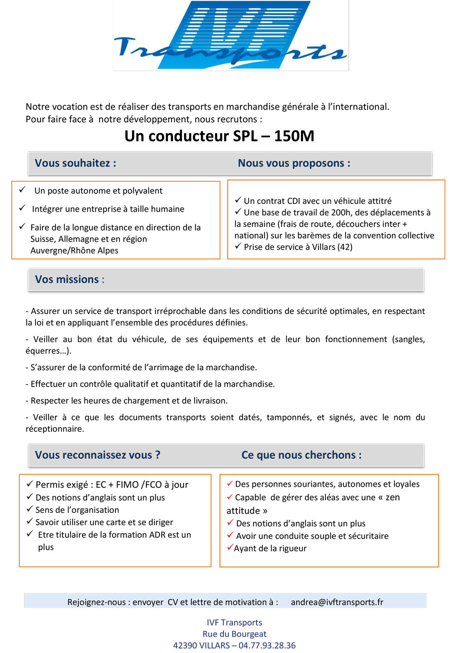 Conducteur routier | IVF Transports